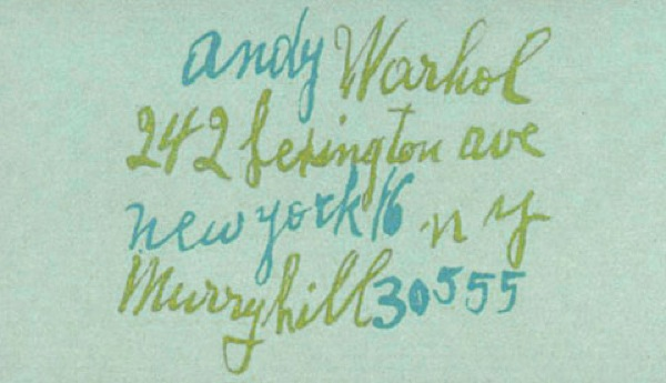 famous-business-cards-warhol