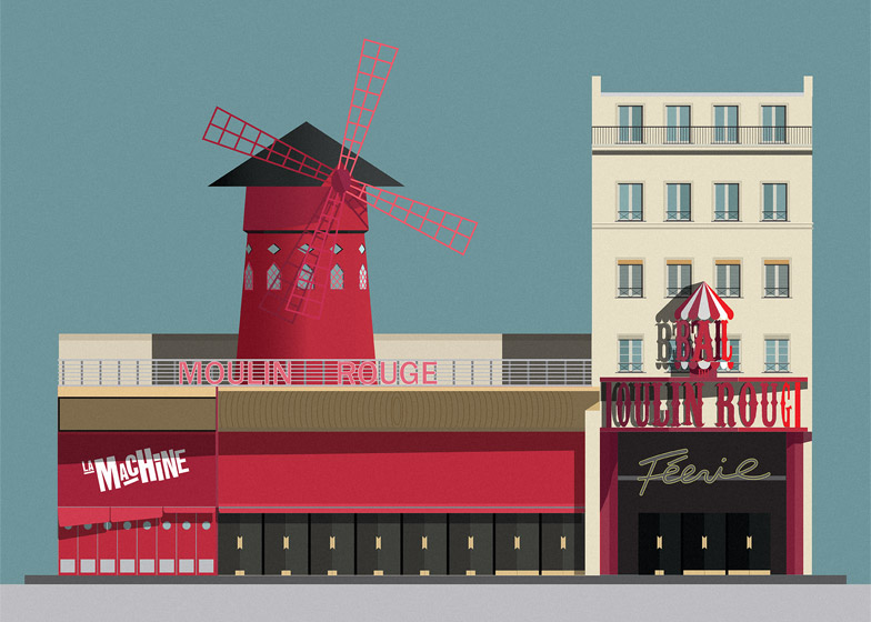 Nightclub-illustrations-by-Pablo-Benito_Moulin-Rouge_dezeen_784_1
