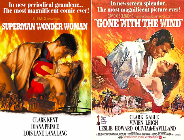 Superman-Wonder-Woman-Gone-With-The-Wind-DC-Comics