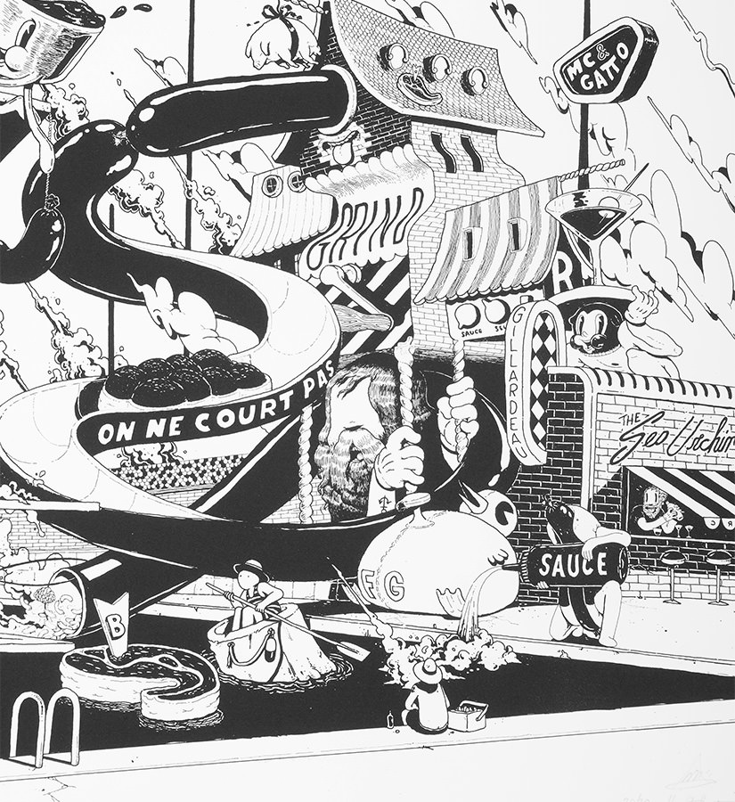 Ugo-Gattoni-McBess-Sweetbread-lithography-oeuvre-illustration-fine-art-print-collaboration-food-edition-Sold-Art-online-art-gallery-detail-1-1