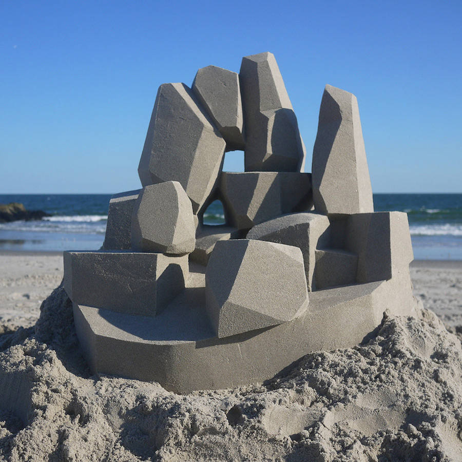 Mind-blowing-Geometric-Sandcastles-by-Calvin-Seibert-10-900x900